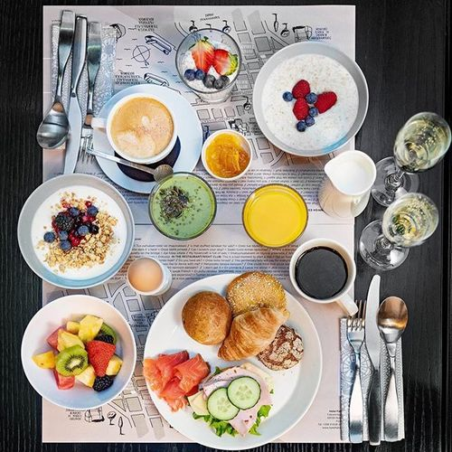 Good morning! ☀️ In our breakfast we focus on light and healthy products for you to have energy and great mood for the whole day. Breakfast times are Mon-Fri 7:00-10:00 & Sat-Sun 7:30-11:00 ⠀ • #hotelfabian #wedontmindifyoustaylonger #hotelbreakfast